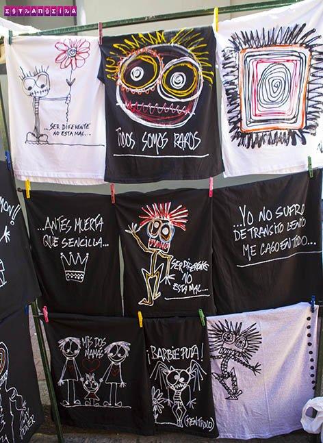 As camisetas da artista Naty Menstrual