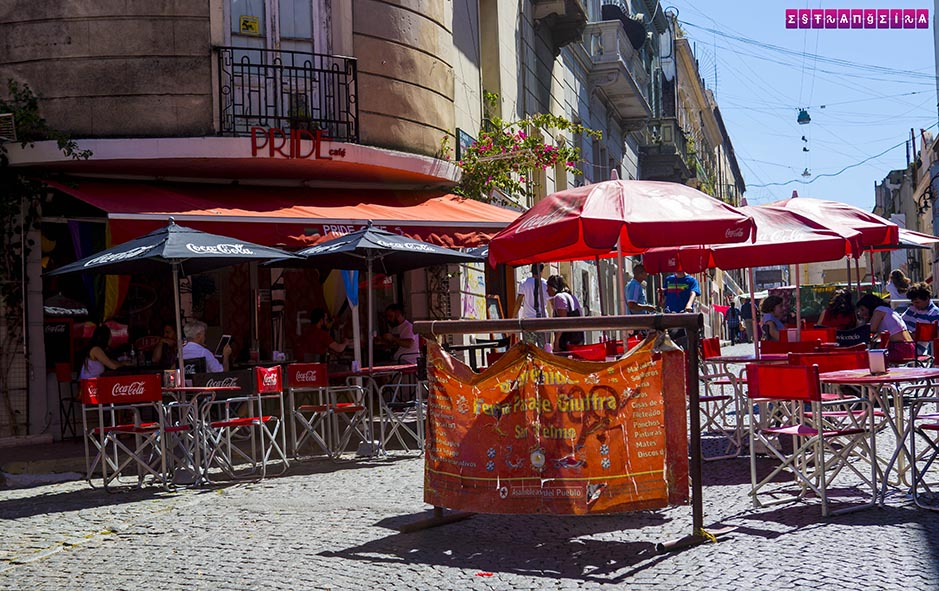 O Pride Café há anos levanta a bandeira LGBT com orgulho em San Telmo