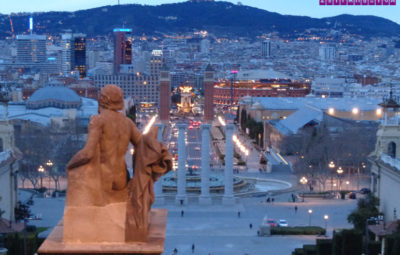 Barcelona vista do Museu de Arte da Catalunya. A Plaça Espanya é a praça que está lá embaixo, no centro.