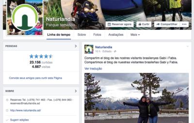 Facebook da Naturlandia