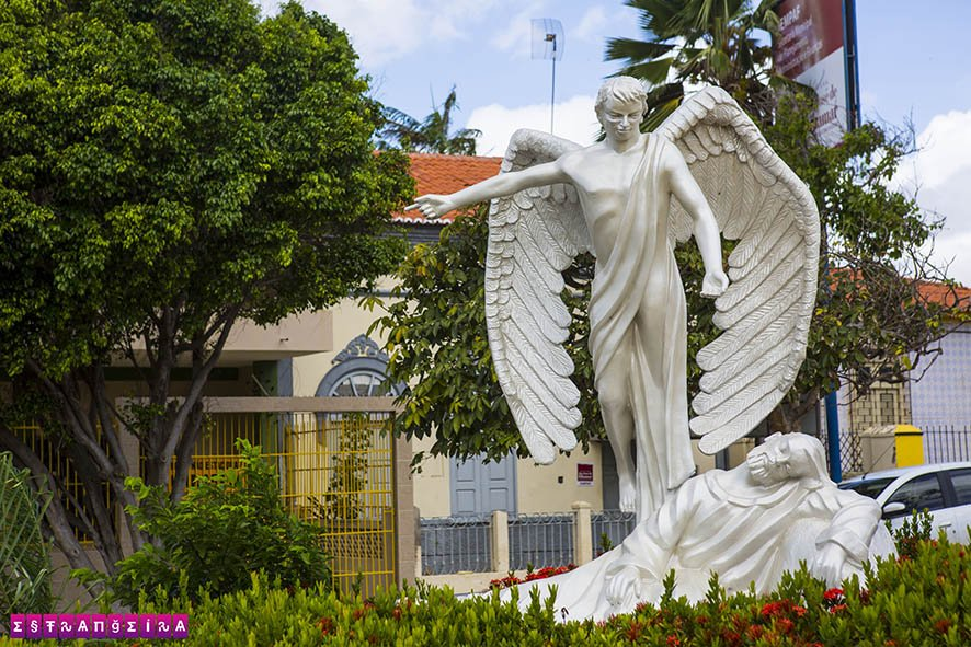 Escultura na Praça da Matriz - São José de Ribamar