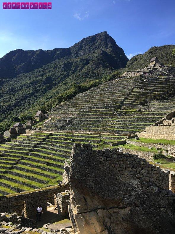 Estrutura de cultivo da antiga vila Inca.