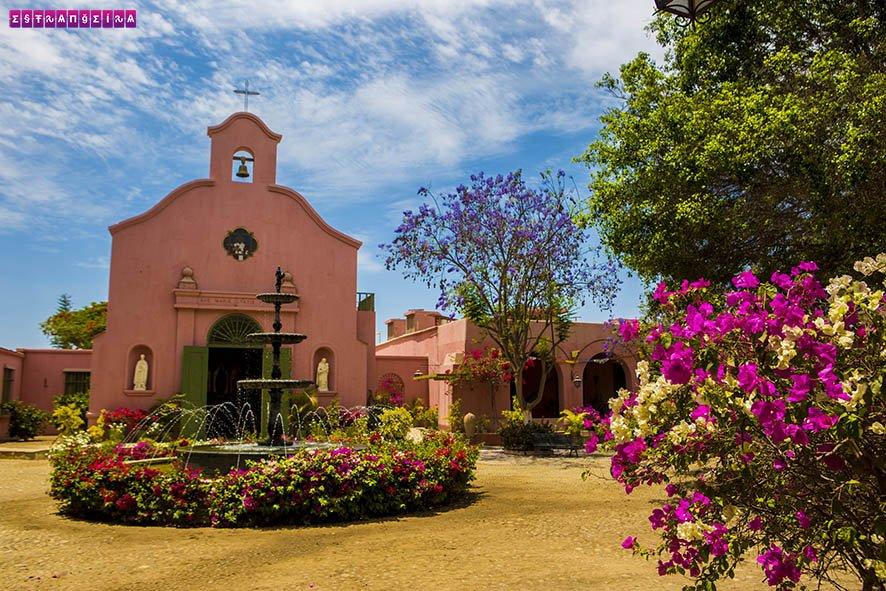 A igreja da Tacama, em Ica, Peru